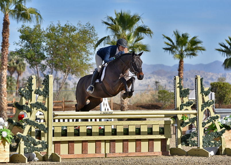 "Nina & Horse is Drop the Mic in the 3'6"" performance hunters"