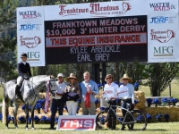 Kylee Arbuckle & Earl GreyChampion at Franktown Meadows Hunter Derby