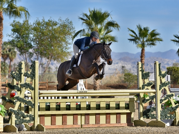 "Nina and Horse is Drop the Mic in the 3'6"" performance hunters. PC ESI"